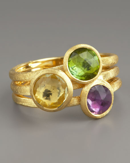 Jaipur Three-Stone Ring, Mixed