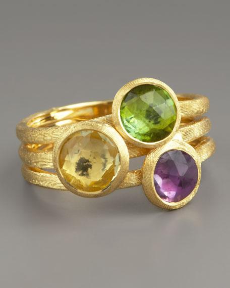 Jaipur Three-Stone Ring, Mixed