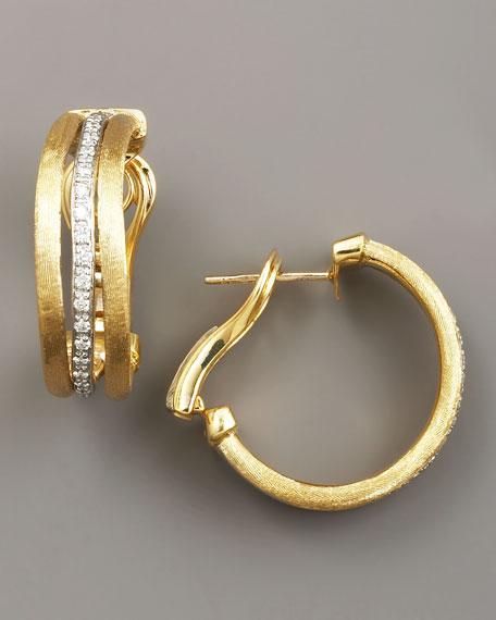 Jaipur Gold & Diamond Hoop Earrings