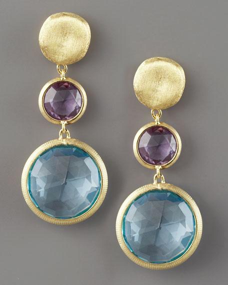 Jaipur Drop Earrings, Topaz