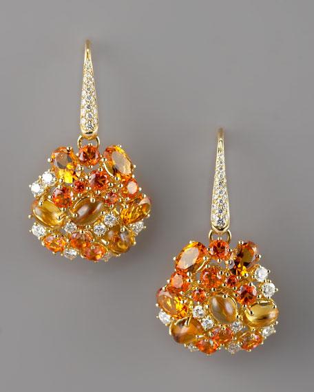 Fireworks Earrings, Orange