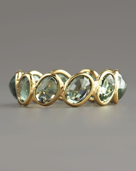 Green Sapphire Ombre Ring