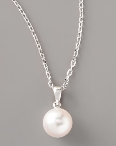 Pearl Pendant Necklace, White