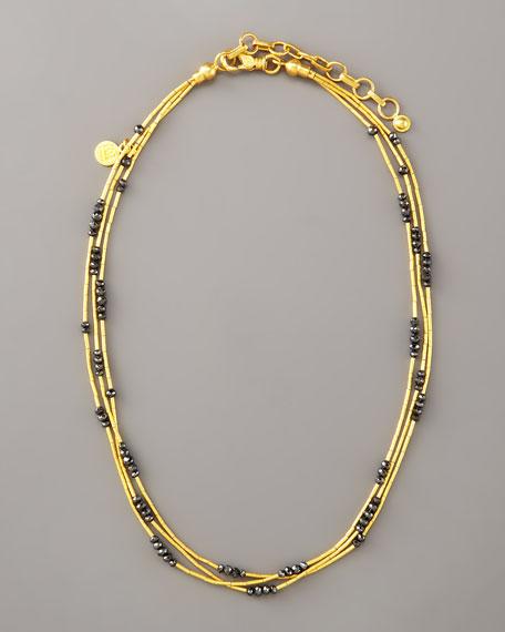 Multi-Strand Gold Necklace