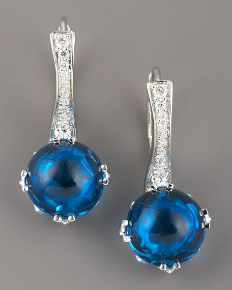 Jelly Bean Topaz & Diamond Earrings
