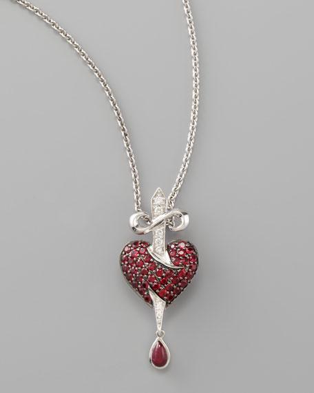 Minor Bleeding Heart Pendant Necklace