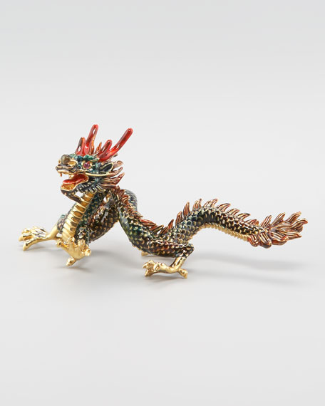 Roberto Coin Dragon Paper Weight, Green