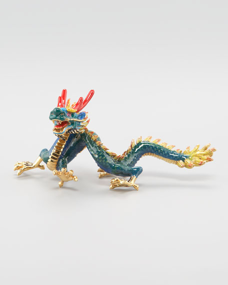 Dragon Paper Weight, Blue