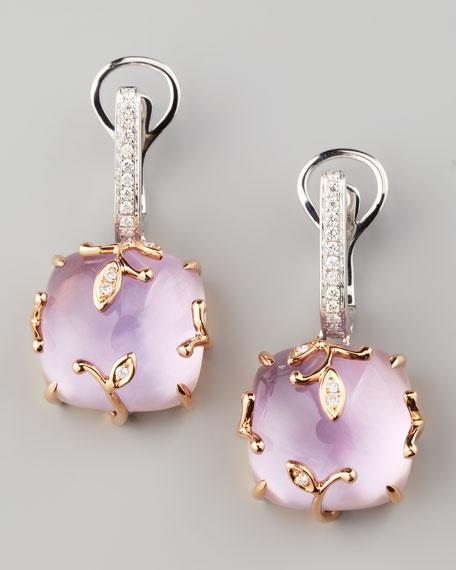 Lavender Vine Amethyst Drop Earrings