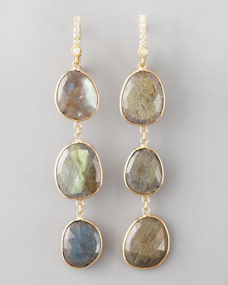 Triple-Drop Labradorite Earrings