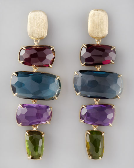 Four-Drop Murano Earrings