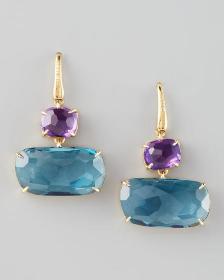 Murano Amethyst & Blue Topaz Earrings