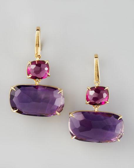 Murano Garnet & Amethyst Earrings