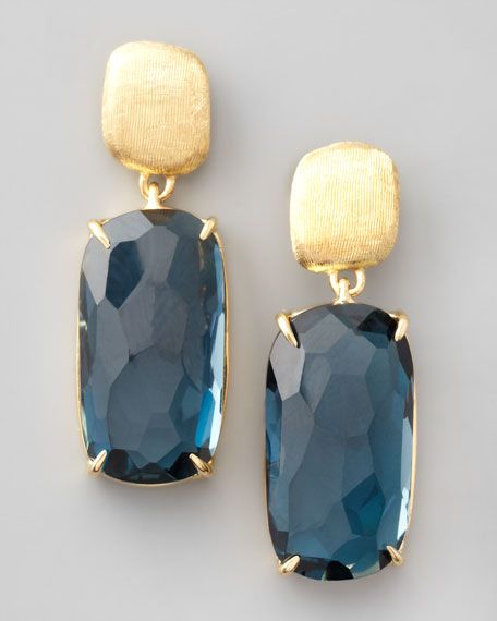 Murano London Blue Topaz Drop Earrings