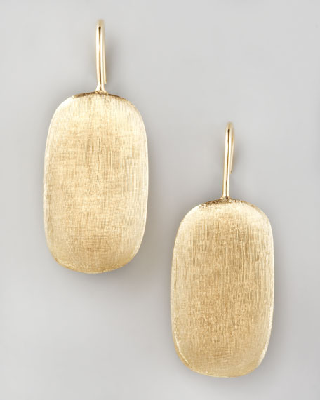 Murano Brushed Gold Earrings