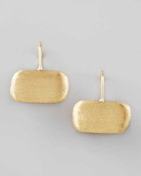 Murano Brushed Gold Earrings, Small