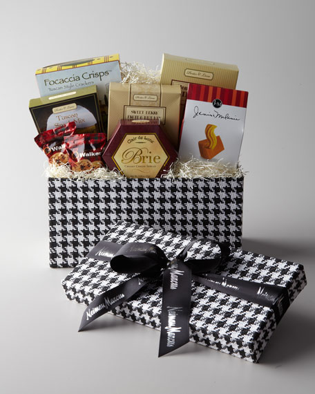 Black-and-White Houndstooth Gift Box