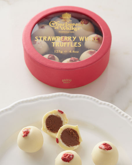 Strawberry White Chocolate Truffles