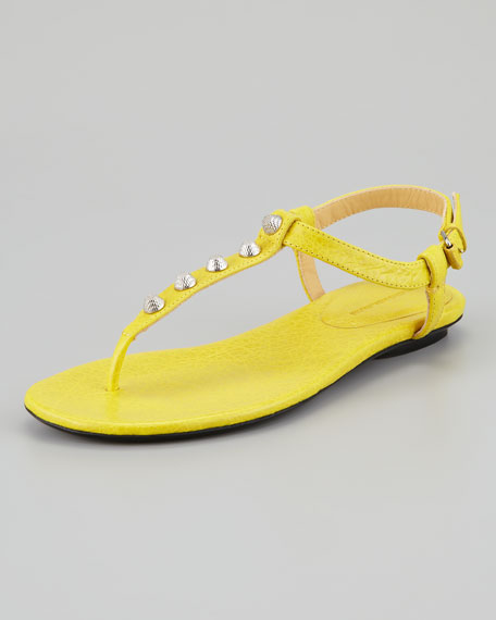 Arena Giant Nickel Studded Thong Sandal