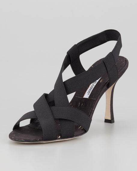 Lasti Crisscross Cork Sandal, Black