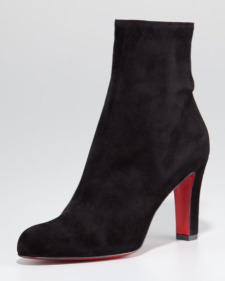 Miss Tack Suede Red Sole Bootie