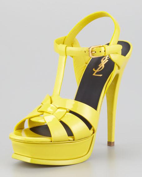 Tribute Patent Sandal, Yellow