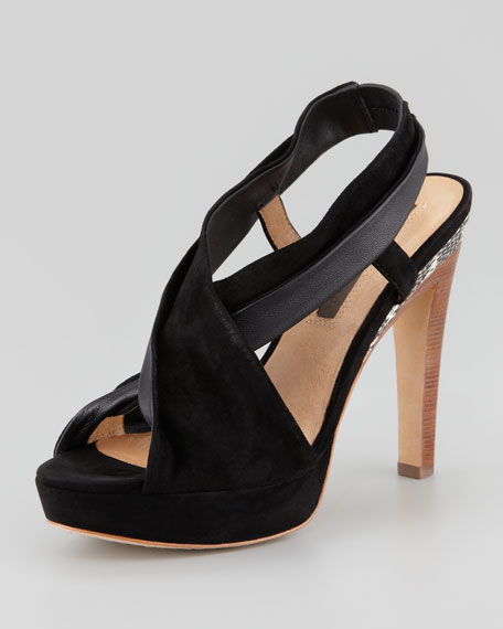 Nara Suede Leather Platform Sandal