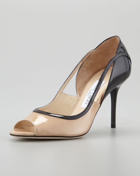 View Peep-Toe Cutout Pump