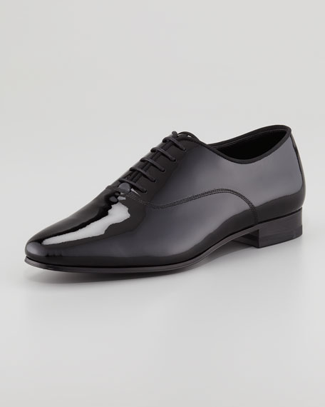 Billy Patent Lace-Up Flat Oxford