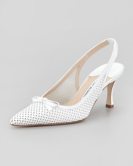 Olaschi Perforated Leather Slingback Pump