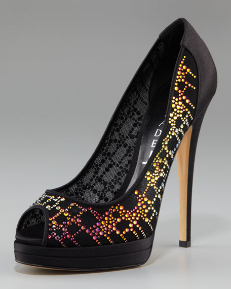 Crystal-Embellished Pump