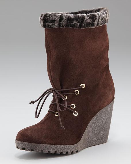 Zucca Shearling-Trim Boot