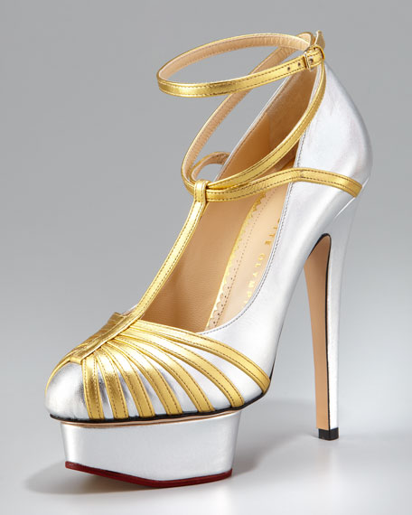Metallic Ankle-Wrap Platform Pump