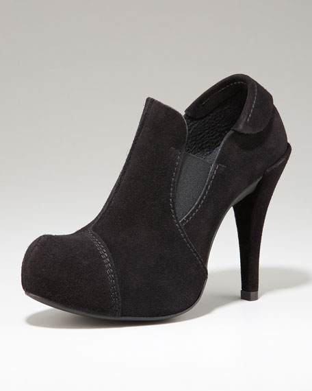 Stretch Suede Bootie