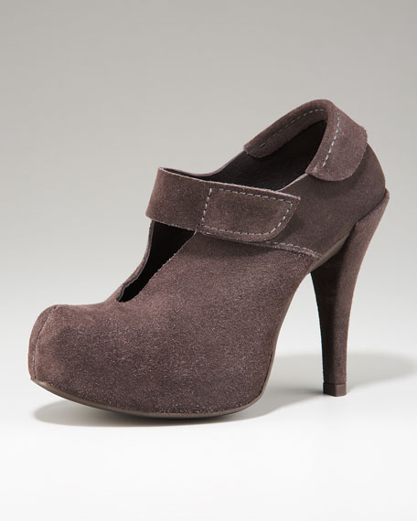 Suede Mary Jane Bootie