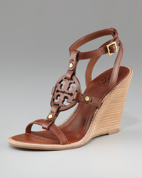 Edna Logo Wedge Sandal
