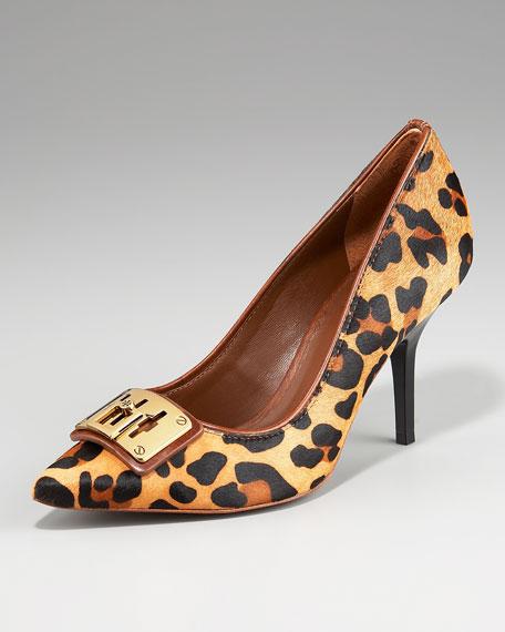 Celina Leopard-Print Pump