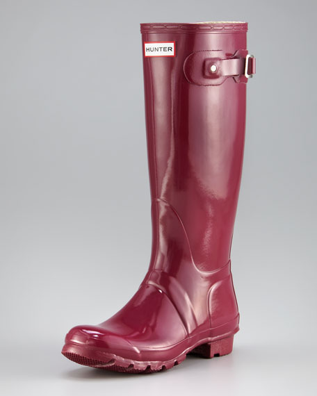 Original Gloss Welly Boot, Very Berry