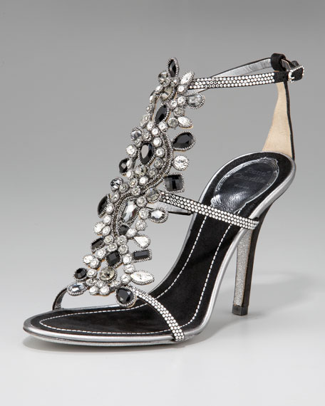 Crystal T-Strap Sandal