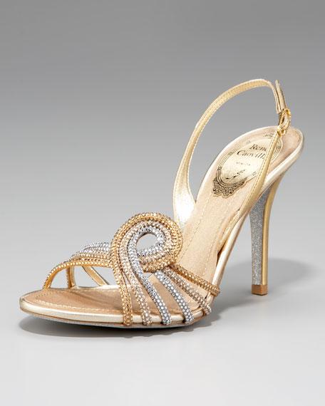 Crystal-Swirl Sandal