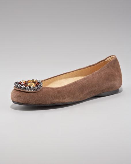 Jewel-Toe Ballerina Flat, Earth