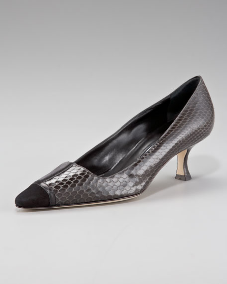 Yazin Patent-Capped Snake Pump, Black