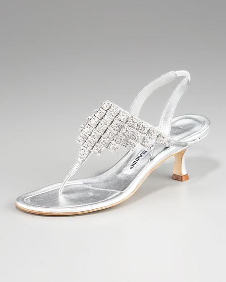 Luccisli Bejeweled Thong Sandal