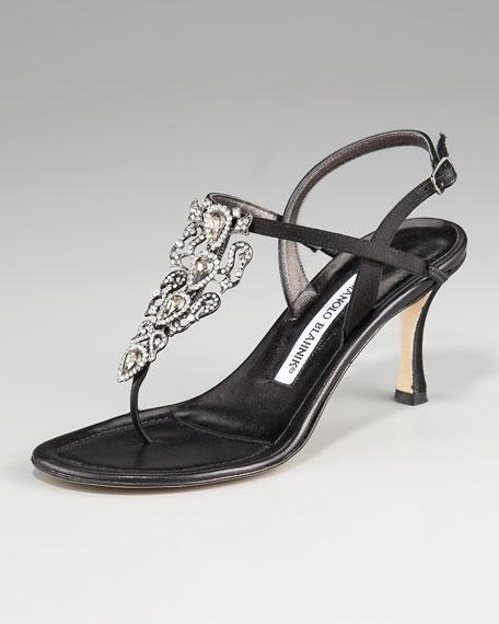 Magnosli Crystal-Detail Thong Sandal