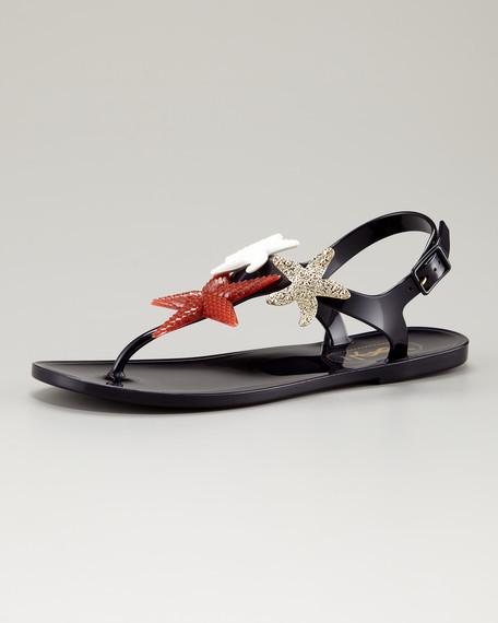 Starfish Jelly Thong Sandal