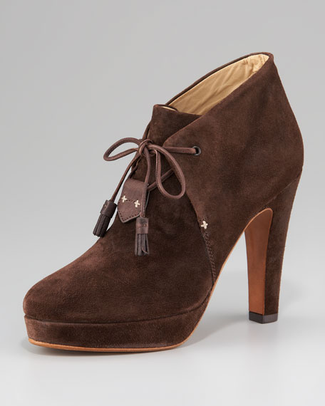 Lace-Up Suede Bootie