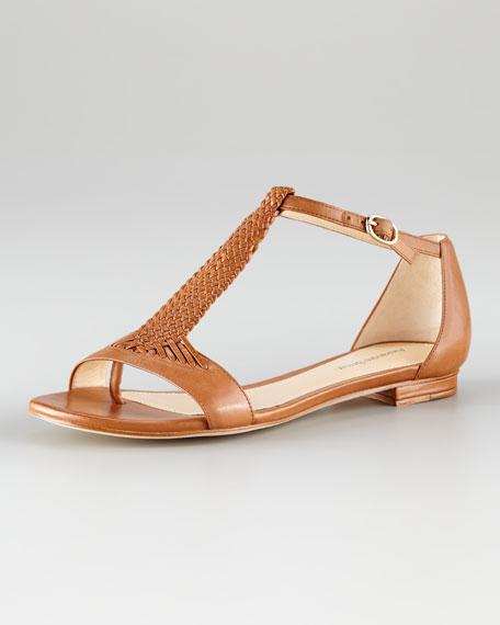 T-Strap Sandal, Tan