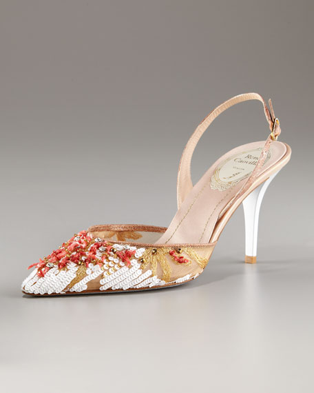 Embellished Platform Sandal