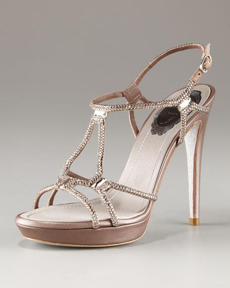 Platform Crystal Sandal