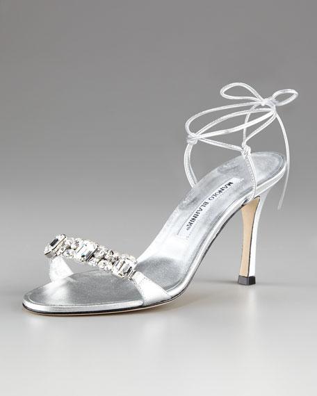 Prisca Crystal Tie-Back Sandal